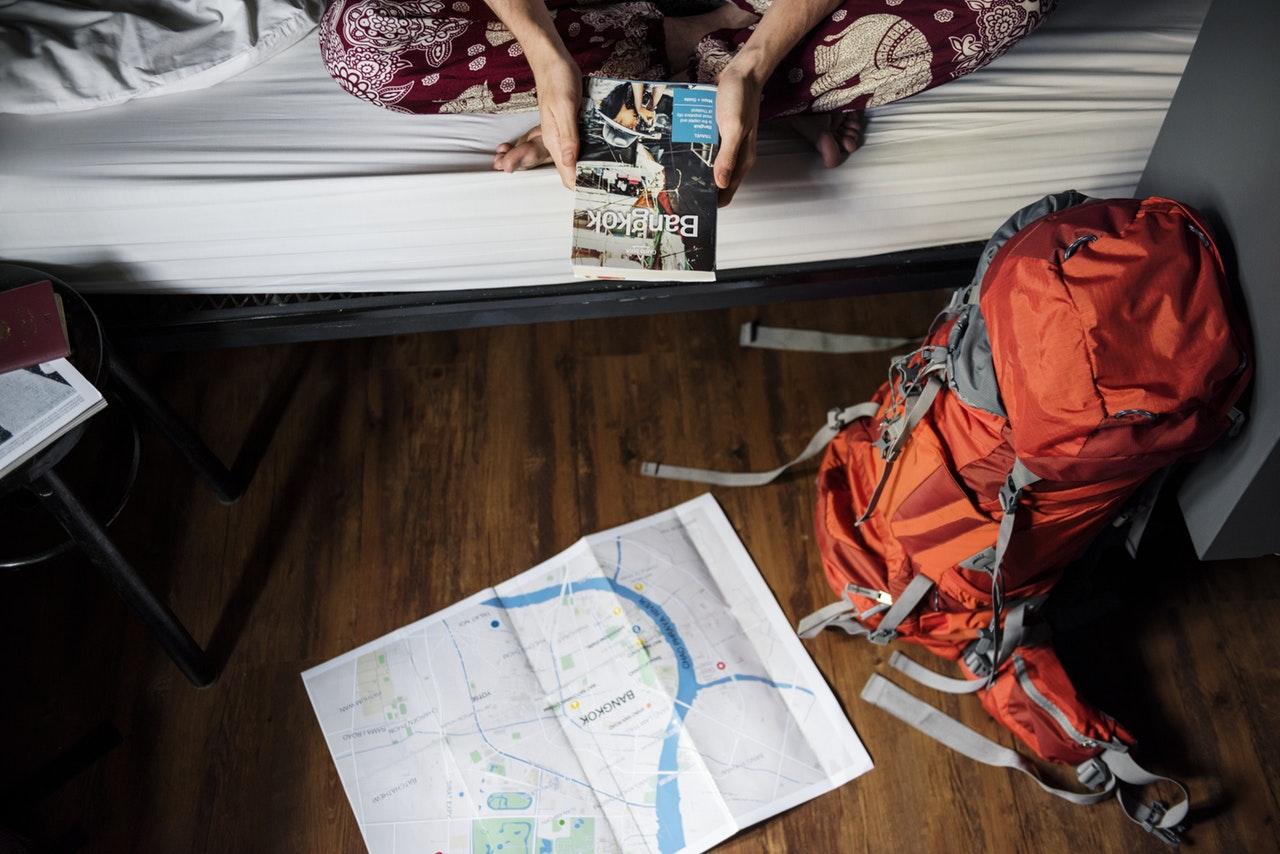 packar inför resa